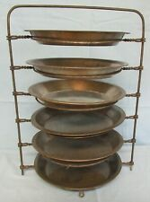 Antique Vintage 6-Pie Rack Diner Cooling Twisted Metal with Pie Plates