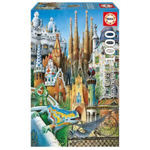 Jigsaw Puzzle Educa 1000 Parts Collage Gaudi Miniature 11874, 30 X 46 CM