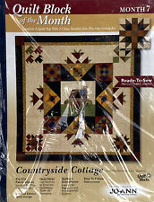 Joann Fabrics Quilt Block Countryside Cottage Month 7