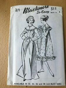 New Unused Vintage Blackmore Sewing Pattern Misses Nightie Size 34 Bust