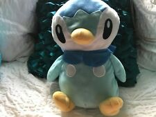 "NINTENDO TOY FACTORY 2008  HTF  POKEMON PIPLUP GO VIDEO PLUSH   12"" TALL"