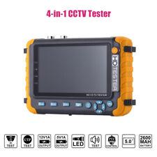4 in1 CCTV Tester Monitor Support 5MP TVI/AHD 4MP CVI Camera HDMI/VGA Input PTZ