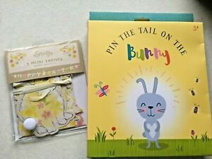 Pin the tail on the Bunny Easter game, & 3 Mtr Easter Bunting Banner