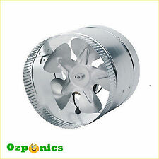 "2x Inline Ventilating Exhaust Fan 6""/150mm 25w Metal Blade"