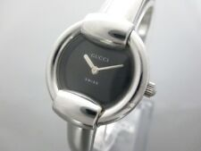 Auth GUCCI 1400L Silver Black Women's Wrist Watch 17819