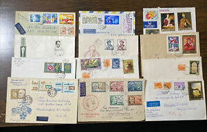 Hungary Twelve Covers And First Day Covers