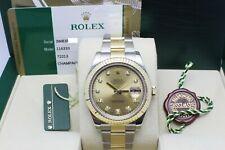 Rolex Datejust II 116333 Champagne Diamond Dial 18K Yellow Gold Steel Box Paper