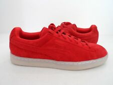 Puma Mens Suede Classic Colored Shoes Red Size 9