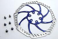 Ashima Aegis 180mm Mountain Bike Disc Brake Rotor BLUE 116g