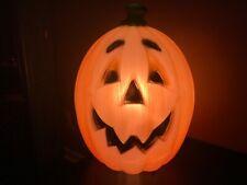 """Vtg General Foam Plastics 24"""" Lighted Halloween Jolly Pumpkin Blow Mold"""