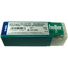 Heller 8.5mm HSS-G Super Giro Metal Brocas HSS Tierra Herramientas alemanas Paquete de 10