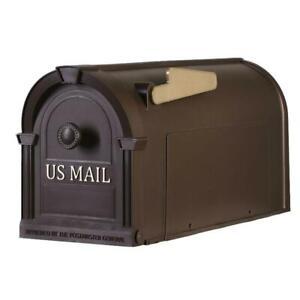Postal Pro Mailbox Post Mount Hampton Bronze Gold Durable Large No Rust Mail Box