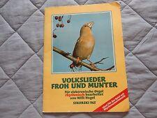 1980 Volkslieder Froh Und Munter German Folk Songs Organ Music & Lyrics