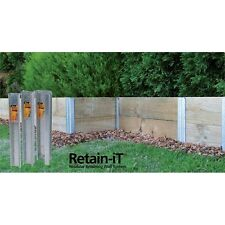 Retain-IT END POST FOR RETAINING WALL DIY SYSTEM with Timber Sleepers
