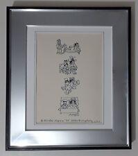 Lou Myers Cartoonist Original Cartoon Drawing hand signed