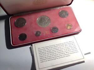 1973 The Republic Of Liberia Seven-Coin Proof Set. BL4E