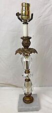 Vintage Glass Table Lamp with Marble Base