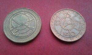 Czech Republic 20 & 10 Korun / Kronen 2000 unc commemorative coins