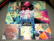 """New listing Anthrax Sound Of White Noise 12"""" x 12"""" 2 Sided Promotional Flat Promo Poster"""