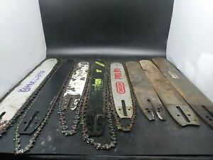 Chainsaw bar lot vintage bars some new lot of 8