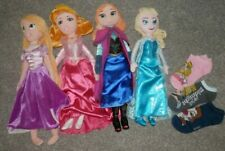 "Disney princess 20""  plush doll set of 5   Elsa, anna, tangled,Aurora ,ARIEL too"