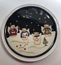"""SONOMA  Lifestyle ~Snowman~ 9"""" Porcelain Trivet"""
