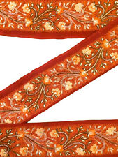 Silk Antique Vintage Sari Border Woven Indian 1Yd Trim Embroidered Ribbon ST1179