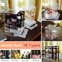Holder Cosmetic Makeup Organizer  Drawer Storage Jewellery Box Clear Acrylic