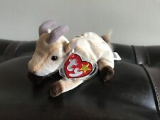 Ty Beanie Baby: Goatee. Multiple Errors. With Tag Protector. Excellent Condition
