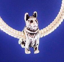 Dog German Shepherd Silver European Charm Bead fit for bracelet