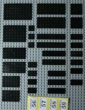 ~30 Lego Black Plates q: fair/poor 2x2 2x4 2x6 2x8 2x10 2x10 4x4 4x12 etc Y56+