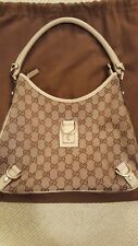 Gucci Ivory GG Monogram Canvas D Ring Hobo Bag (Pre Owned)