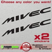MIVEC decal sticker vinyl mitsubishi ralliart spirit of competition colt evo mr