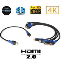Short 0.5M High-Speed HDMI Cable Cord Support 4K, Ethernet, 3D, Audio Return Lot