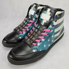 J75 Jump BANNER High Top Sneakers Size 12 AMERICAN FLAG EUC MPN 66712M381