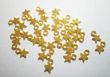 50 Gold Plated Star Charms/Pendants - 8mm x 10mm
