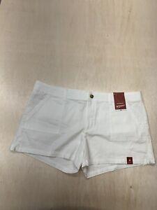 Arizona Jeans Juniors Womens White Shorts Size 19