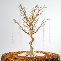 "30"" Gold Glittered MANZANITA TREE with Garlands Wedding Party CENTERPIECES"