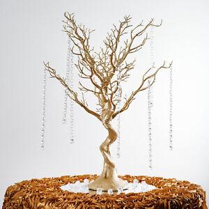 "30"" Gold Glittered MANZANITA TREE with Garlands Wedding Party CENTERPIECES"