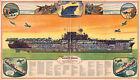 1944 Aircraft Carrier World War II WWII Military Navy Flat-top Wall Poster Print