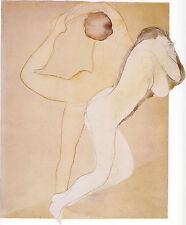 Auguste Rodin Drawings: Feminine Couple - Fine Art Print
