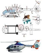 Peddinghaus 1/72 EC135 T2 German Police Helicopter Markings D-HSND Sachsen 2396