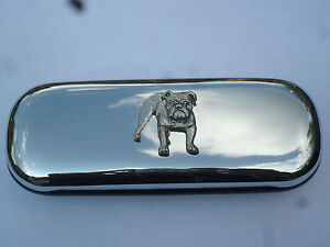 Bulldog dog new chrome glasses case great gift!!Mother's day, Birthday