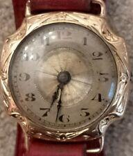 Montre Vintage , Or poinçon tête d'aigle & orfèvre , military watch , art deco