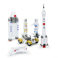 Space Exploration Children Educational Puzzle Toys Plastic Rocket Planet Model