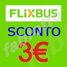 Flixbus 2X3 euro voucher/coupon. Expires 30/04/20