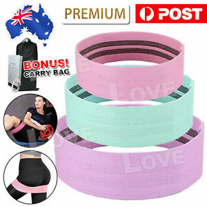 Resistance Booty Bands Set-3 Hip Circle Loop Bands Workout Exercise Guide & Bag