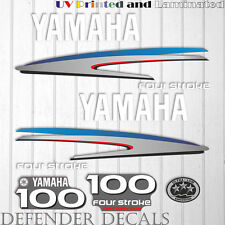Yamaha 100 HP Four Stroke outboard engine decal sticker kit reproduction Printed