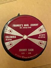 JOHNNY CASH FRANKIE'S MAN JOHNNY COLUMBIA 78 RPM 1959 CANADA ONLY