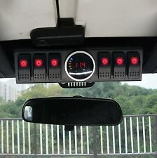 Jeep Wrangler 6 Switch Panel with Control System & LED Digital Voltage Meter